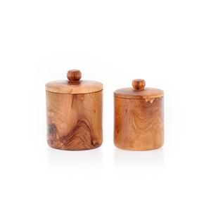 Olive Wood Container Set for Sugar, Coffee, Tea, Herbs or Spices