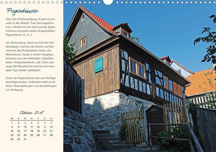 """Städte- und Regionalkalender """"Rudolstadt – mein Spaziergang durch den historische Stadtkern"""", Kalenderblatt Oktober: Pagenhäuser"""