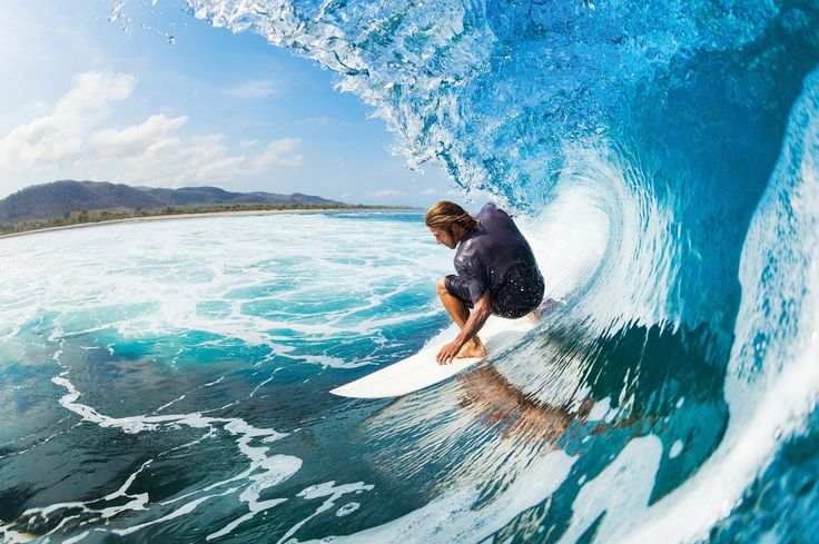 Surfer Wave Photo Wallpaper - Surfer Catching a Wave Mural - Xxl Wall Decoration - - Amazon.com