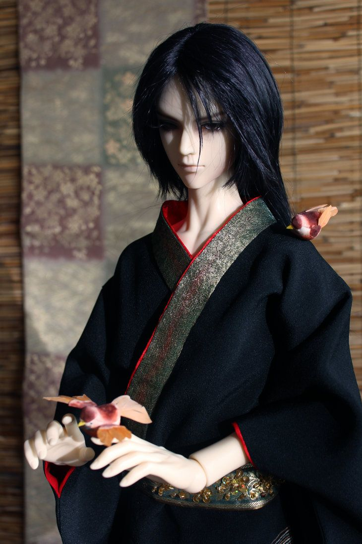BJD kimono, Playing with Birds by InarisansCrafts