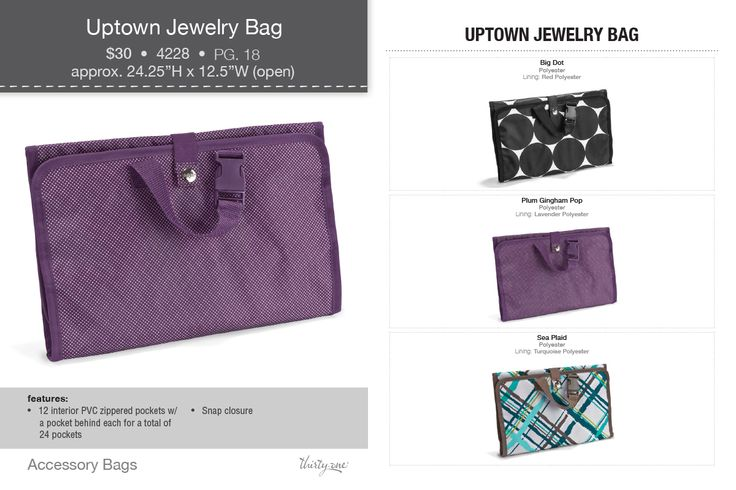 New! Uptown Jewelry Bag Available Sept 1,Thirtyone Gift, Thirty On Gift, Jewelry Bags, Fall 2013, 31 Gift, Uptown Jewelry, Bags Fall, Thirtyone Ideas, 2013 Thirtyone