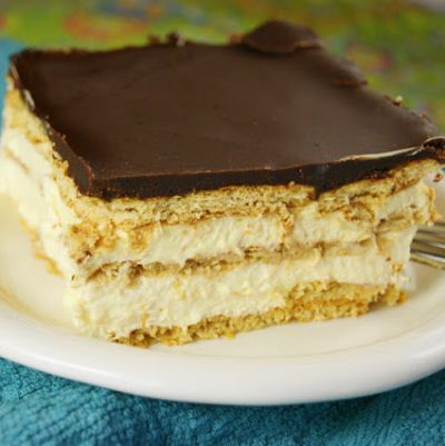 No-Bake Chocolate Eclair Dessert Recipe....sooo good, I've been making this for years!