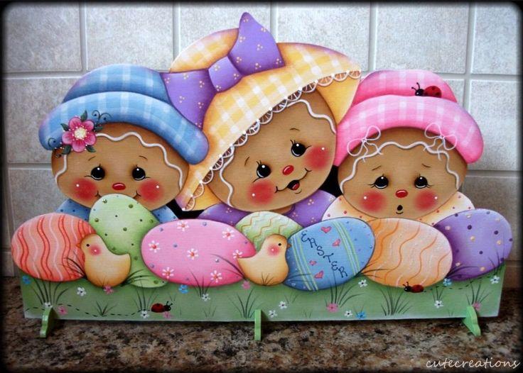 HP GINGERBREAD Easter SHELF SITTER
