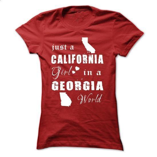 CALIFORNIA GIRLS IN GEORGIA - #tshirt outfit #disney sweatshirt. PURCHASE NOW => https://www.sunfrog.com/States/CALIFORNIA-GIRLS-IN-GEORGIA-Red-15386946-Ladies.html?68278