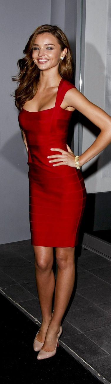 Miranda Kerr in a cute little red dress!