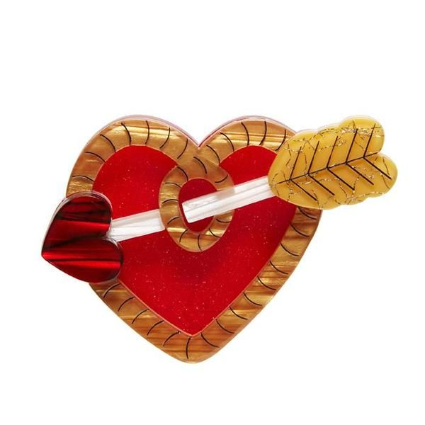 """Erstwilder Collectible A Shot Through the Heart Brooch. """"If Cupid were a cowboy we think there might not have been quite as many bar room brawls and some more settled settlers."""""""