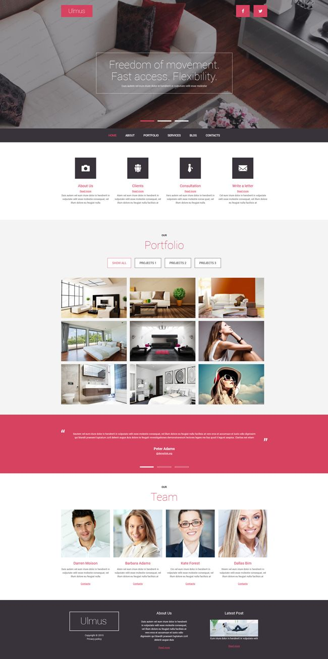Modern #Joomla Template for Interior and Furniture Business (#PSD, #HTML5, #CSS3, #JS)