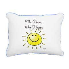 The Power To Be Happy Rectangular Canvas Pillow
