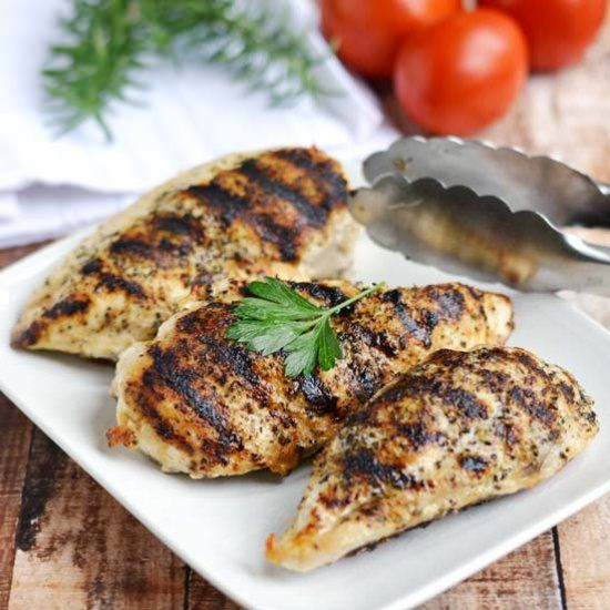 How to make grilled chicken breasts on the stovetop with a grill pan. Simple, easy method.