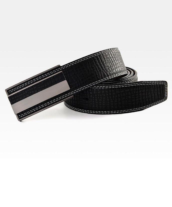 Stocktake Sale!!! Contrast design plate buckle belt (BLACK)- $12.99