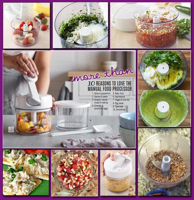 Pampered Chef Manual Food Processor, my favorite handy kitchen tool, a must have gadget to chop fruit, salsa, guacamole, nuts, sauce, chicken salad, smoothies and so much more.