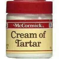 . Mix 2 teaspoons of vinegar and 2 teaspoon of cream of tartar in a small dish (use 3 or 4 teaspoons of vinegar and 3 or 4 teaspoons of cream of tartar if you have more items to clean). Rub on and let sit 10 minutes. Wash off.