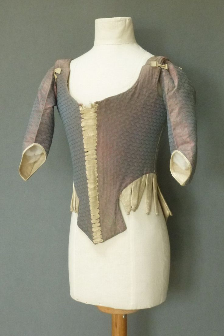 French Sleeved Stays Mid 18th c