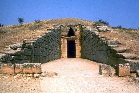 wejscie do grobowca atreusza -  XIII BC