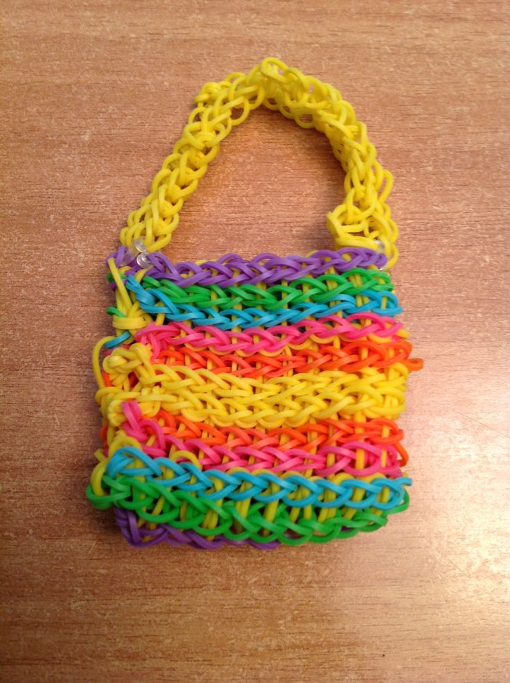 Rainbow Loom Bag Avery Pinterest Rainbow Loom Purse