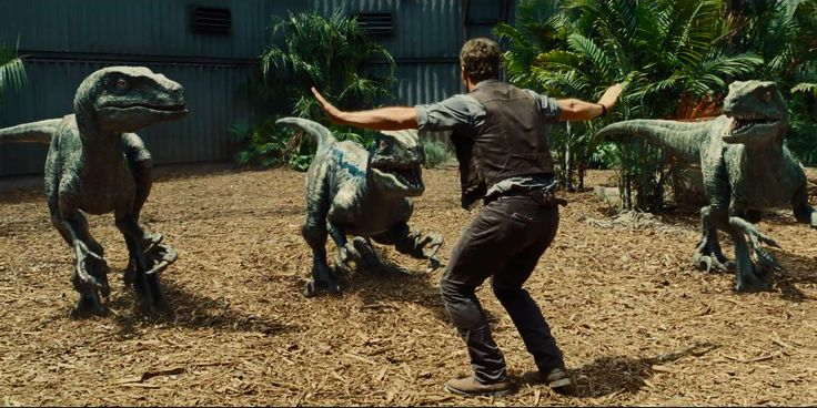 Jurassic World - Trailer 2 Synopsis: People keep thinking an amusement park is a good idea, and Chris Pratt is training velociraptors to battle a gigantic human-T-Rex hybrid.