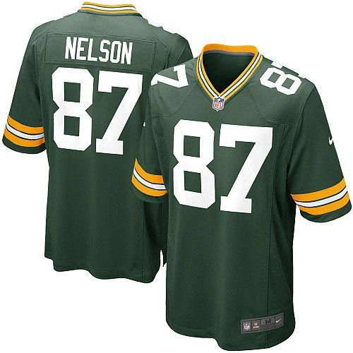 Men's Green Nike Game Green Bay Packers #87 Jordy Nelson Team Color NFL Jersey $79.99