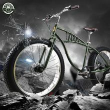 Speed off-road beach Snow bike 4.0 super wide tire mountain bike retro male and female student cycling Fat tire bikes