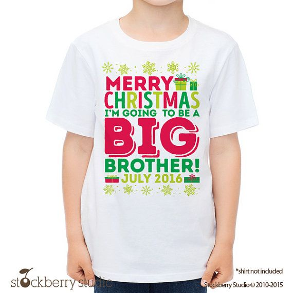 Make a bold statement with our Christmas Big Brother T-Shirts, or choose from our wide variety of expressive graphic tees for any season, interest or occasion. Whether you want a sarcastic t-shirt or a geeky t-shirt to embrace your inner nerd, CafePress has the tee you're looking for. If you'd.
