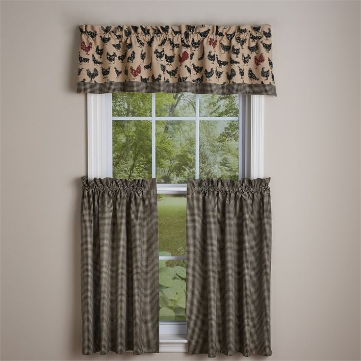 new farmhouse chic hen pecked black chicken rooster valance u0026 tiers curtain set in home u0026 garden window treatments u0026 hardware curtains drapes u0026 valances