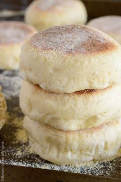 Homemade English muffins are so much easier than you think! This recipe is simple and will give you soft, chewy muffins in no time. Enjoy them with butter or your favorite jam! | http://bakedbyanintrovert.com
