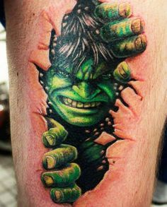 ... Hulk Tattoo on Pinterest | Comic Book Tattoo Incredible Hulk and Hulk