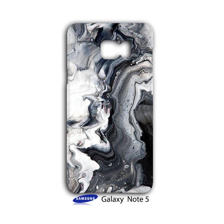 Grey Marble Art Smoke Samsung Galaxy Note 5 Case Cover Wrap Around