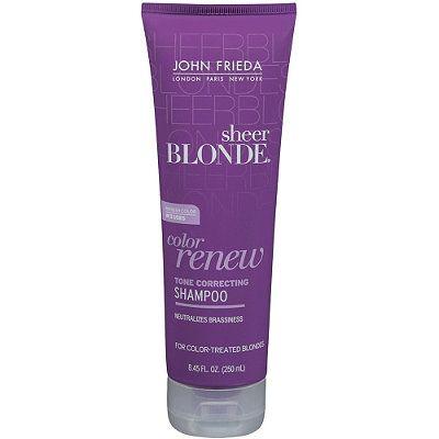 John Frieda Sheer Blonde Color Renew Tone Restoring Shampoo. I should try this!