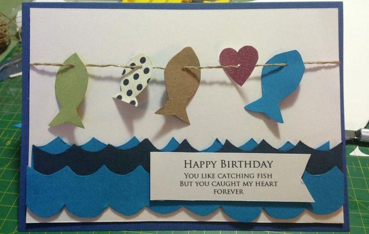 Fishing birthday card cards pinterest birthdays for Fishing birthday cards