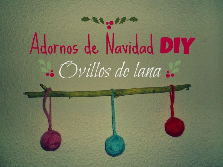 Bonitos ovillos para decorar en Navidad