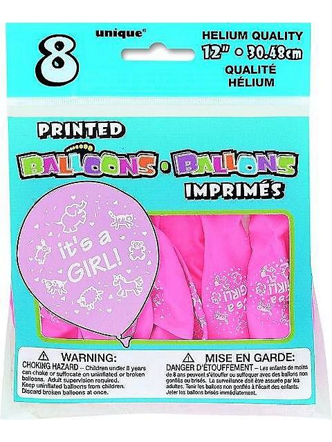 It's a Girl 12″ Latex Balloons (8 Pack)http://ponderosa.co/b1001/its-a-girl-12-latex-balloons-8-pack/