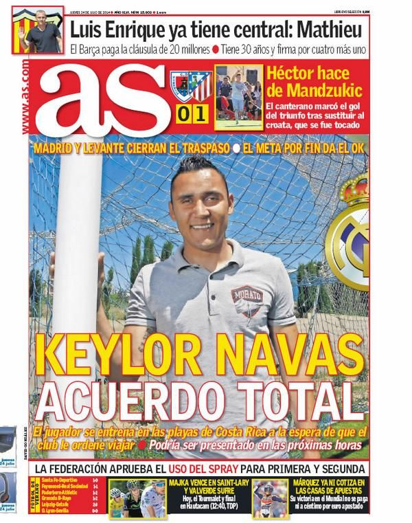 as: Keylor navas in Real Madrid For 12M$