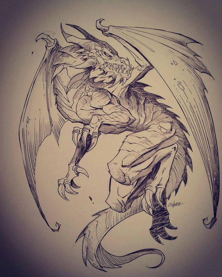 Дракон арты тату