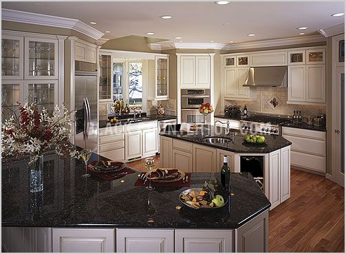 wonderful black kitchen cabinets dark granite | 17 Best images about Decorating ideas on Pinterest | Taupe ...