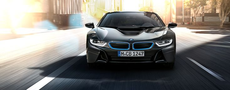 BMW i8. The most progressive sports car: more efficient - through intelligent lightweight construction with carbon and an aerodynamic design. More sustainable - with recyclable materials in the interior. Without forfeiting dynamics and its sporty appearance. No compromises, but rather the optimal combination of driving pleasure and responsibility.