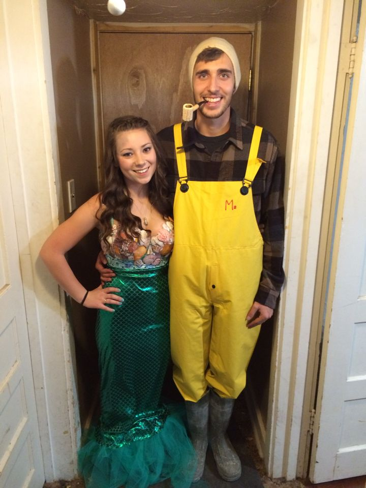 Halloween- fisherman and his mermaid Halloween 2015-couples costume