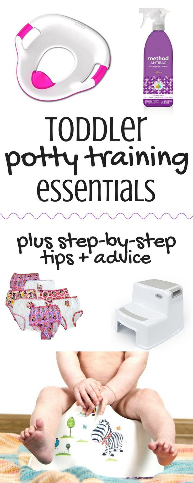 These are the best potty training tips I've seen! This post has so much info I've never read anywhere else! Toddler | Potty Training | Parenting Tips | Potty Training Essentials | Toddler Potty Seat | 2 Year Old | Potty Training Tips |