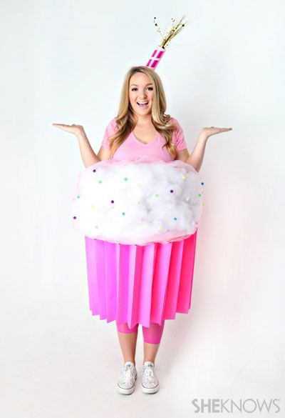 Craft a cupcake costume with a giant bucket of some art supplies. | 19 Brilliant Ways To Dress Like Food For Halloween