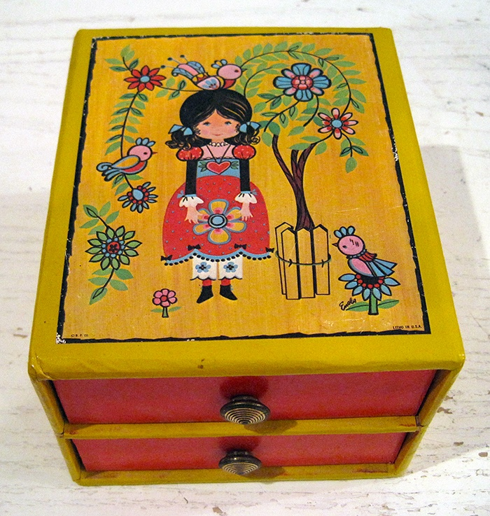 55 best vintage children jewelry box images on Pinterest Jewel box