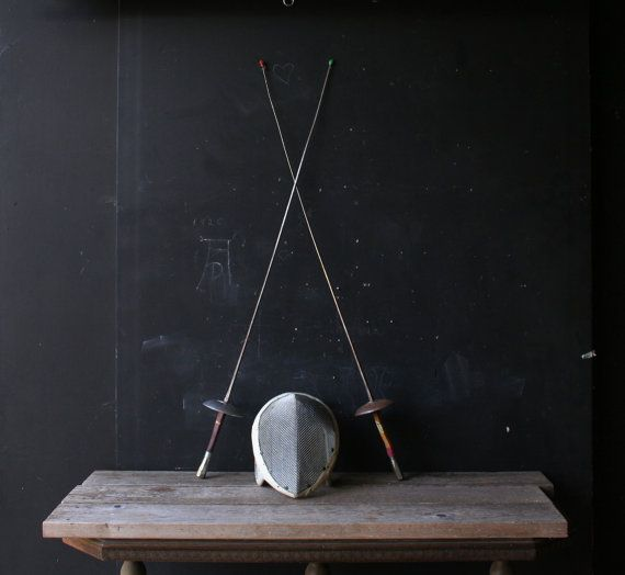 Please+Hold+One+Vintage+Fencing+Foil+Practice+Sword+by+nowvintage