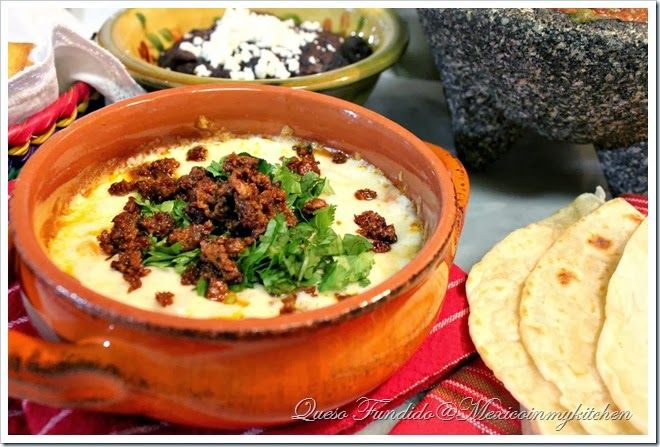Queso Fundido with Chorizo Recipe By Mexico in My Kitchen