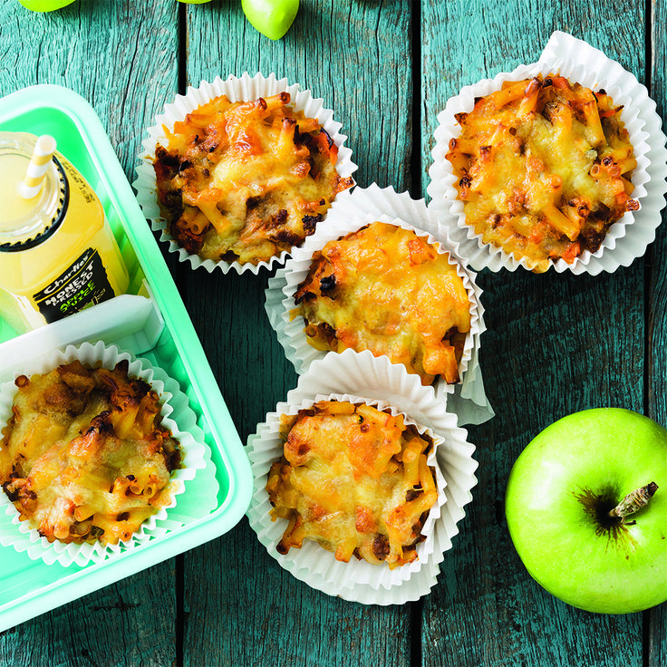 For delicious lunch treats, try Bolognese Pasta Muffins!