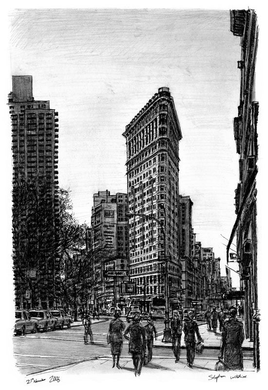 Flat Iron Building NY - drawings and paintings by Stephen Wiltshire MBE