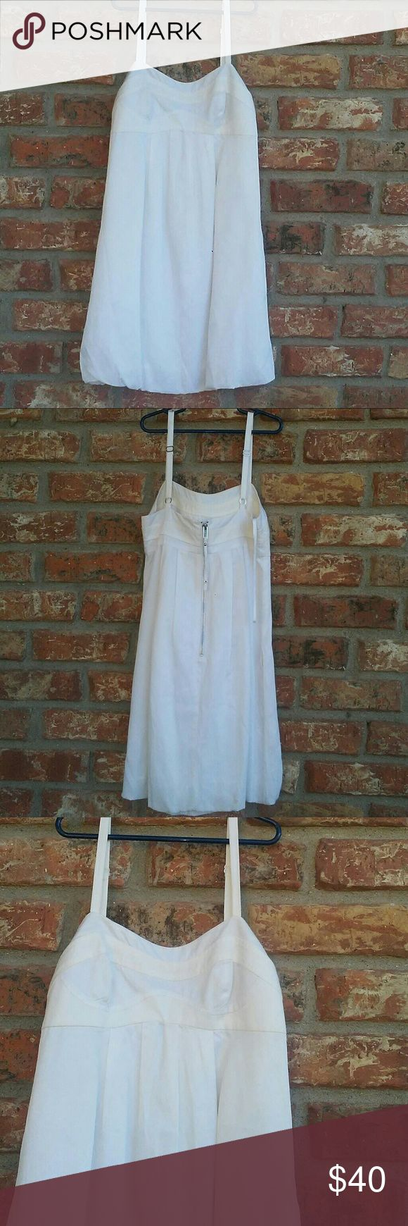 "AX Armani Exchange Dress Armani bubble strap summer dress white /cream color ,back great looking zipper.From shoulder strap to hemline 31"". Armani Exchange Dresses Midi"