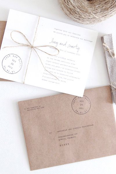 lovely, simple invitation design