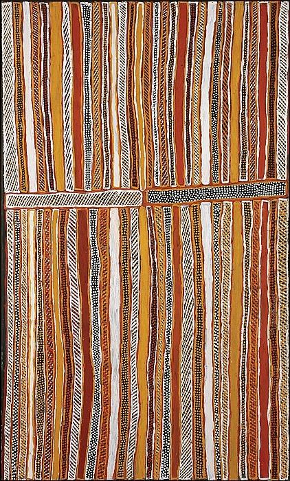 Jean Baptiste Apuatimi / Untitled,  Ochre on canvas 124 x 204 cm