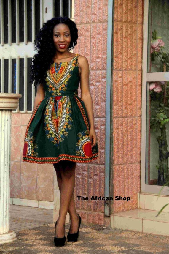 Dashiki boom Dress 2 by THEAFRICANSHOP on Etsy... My mom use to have this same type of fabric dress in Kenya back in 1995!!