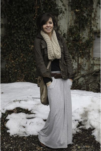What a cute look  Winter maxi skirt