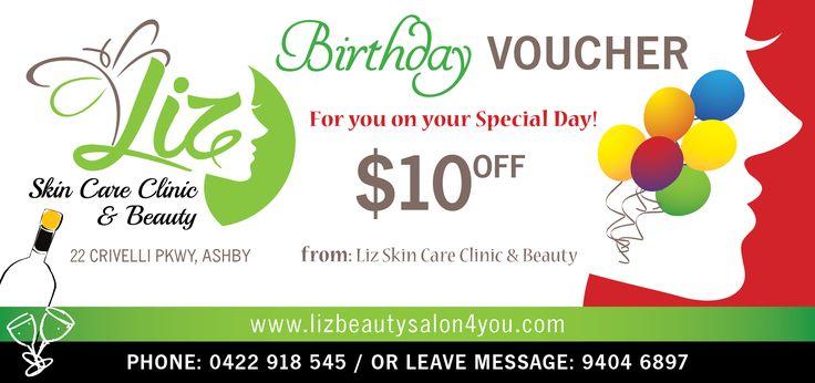 Liz Skin Care Clinic & Beauty Birthday Voucher