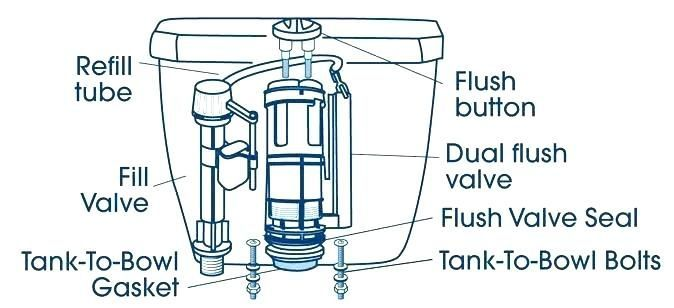 The Half Flush Button Uses Less Water To Flush The Toilet Dual Flush Toilet Flush Flush Valves